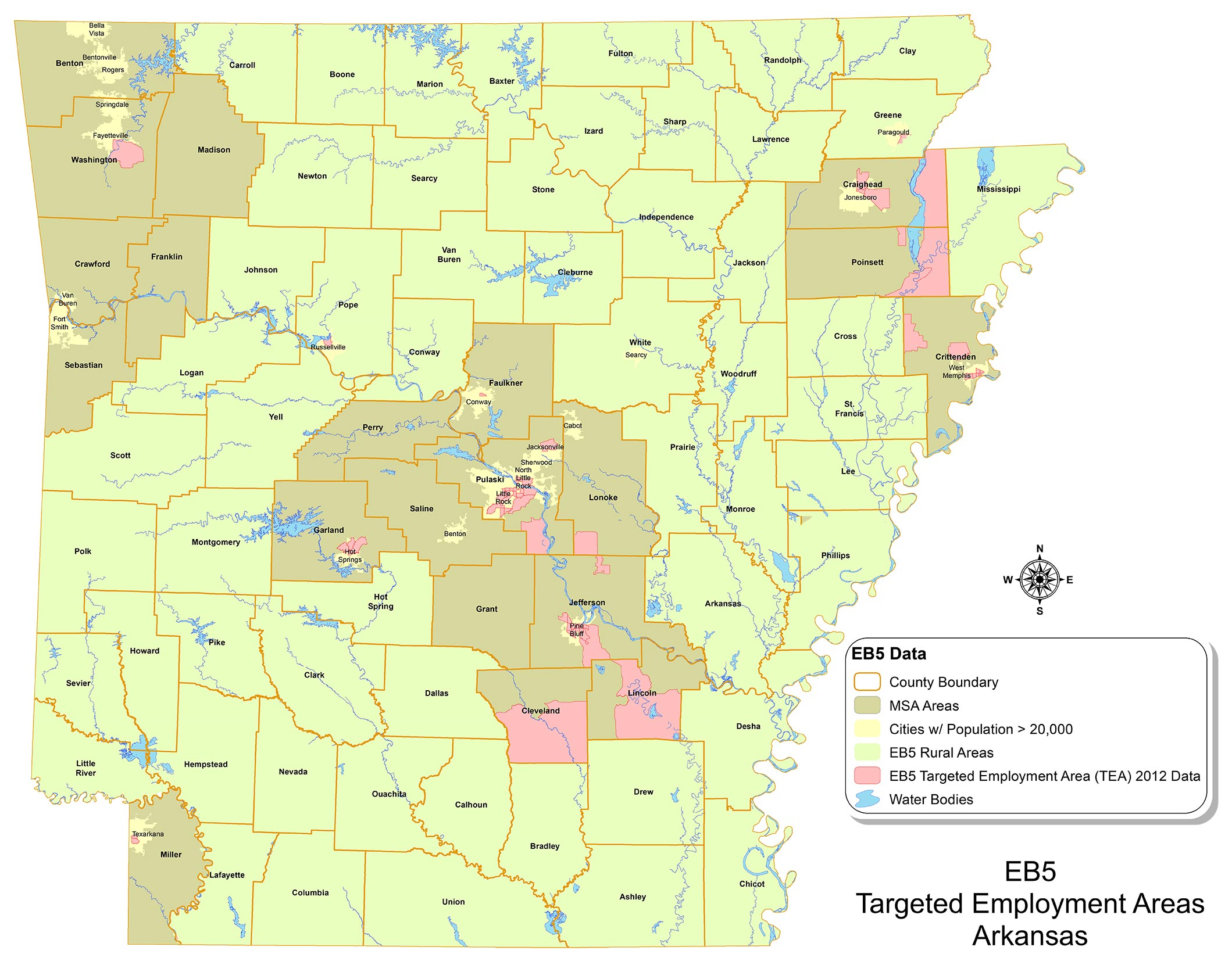 Targeted Employment Areas for the State of Arkansas